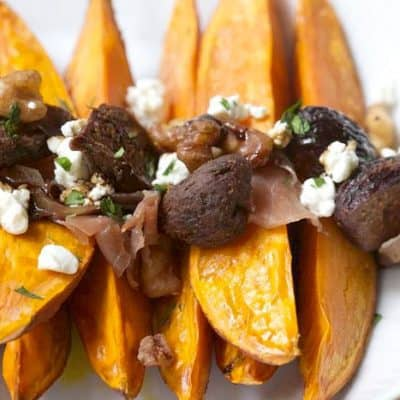 Roasted Sweet Potatoes with Dried Figs