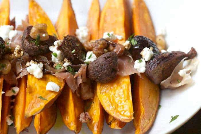 Roasted Sweet Potatoes and Figs are a unique way to use dried figs.
