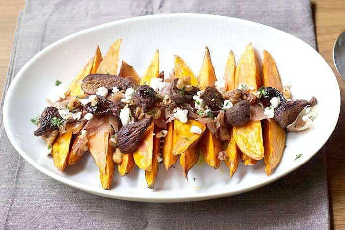 Roasted Sweet Potatoes & Figs is a tasty side dish for autumn.