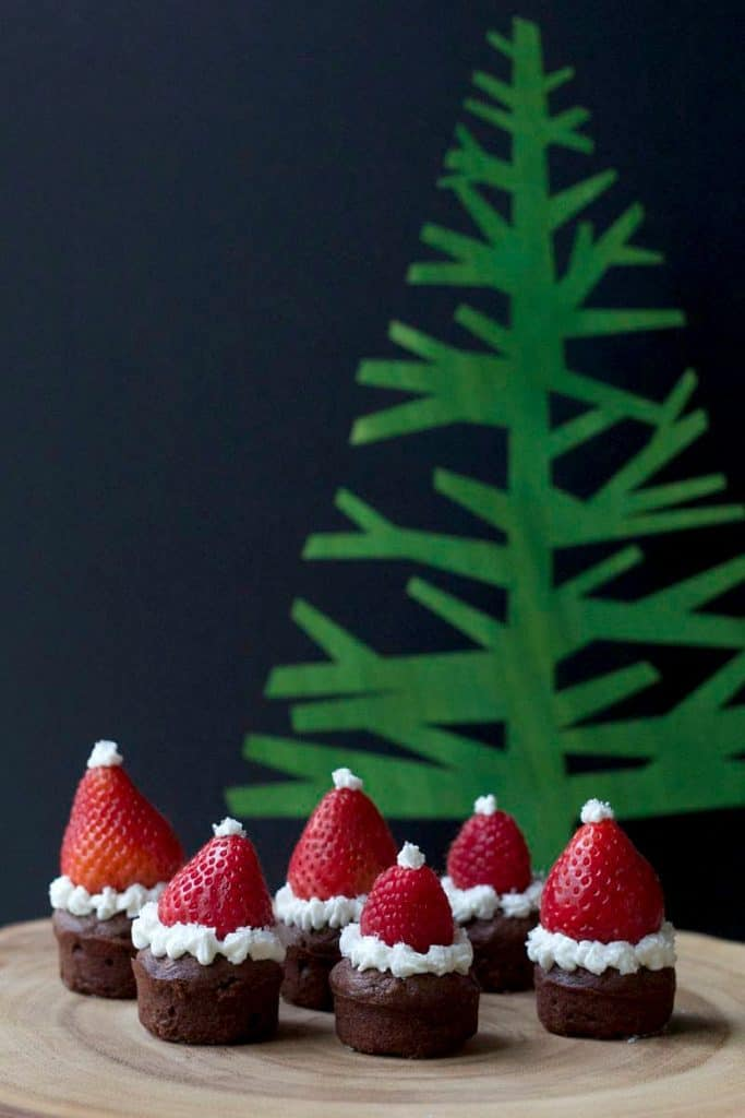 Santa Hat Brownies are a great last-minute treat!