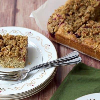 Cranberry Pecan Streusel Coffee Cake