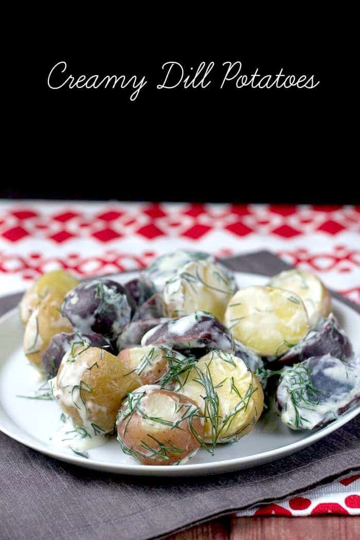 Creamy dill potatoes are an easy side dish perfect for most any dinner.