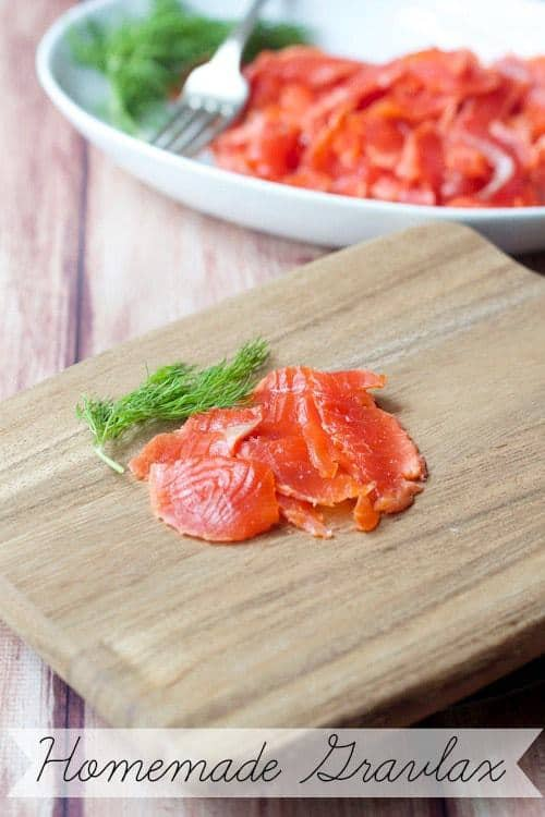 Homemade Gravlax is the perfect topping for your weekend bagels, salads, and sandwiches.