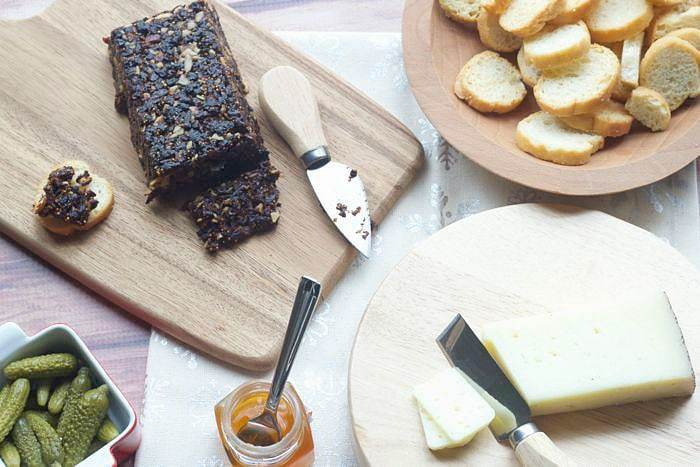 Fig - Pan de Higo, or Spanish fig cake, is perfect on a cheese plate.