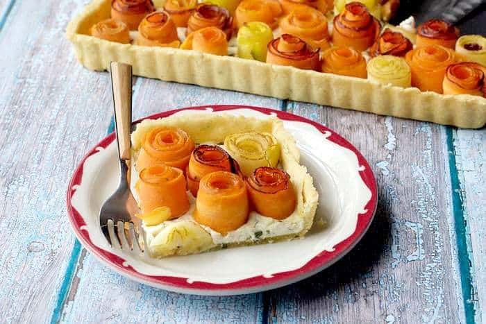 Carrot Rose Tart celebrates the beauty of a simple vegetable.