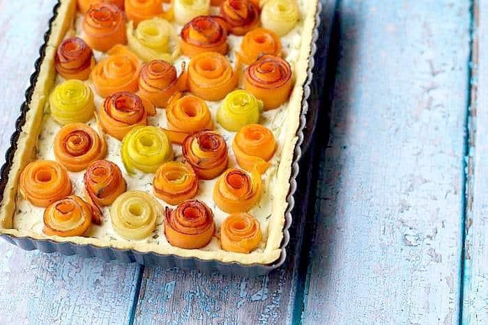 Carrot Rose Tart