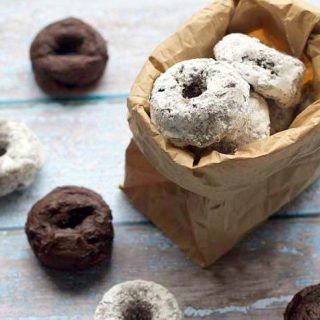Chocolate Avocado Mini Donuts