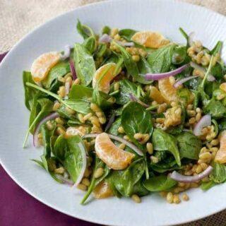 Kamut Spinach Salad