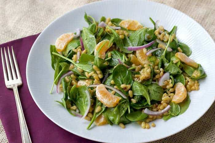 Kamut Spinach Salad is a refreshing way to get your whole grains.