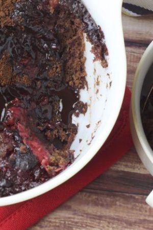 Raspberry Fudge Pudding Cake