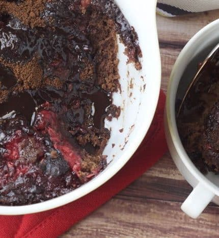 Raspberry Fudge Pudding Cake