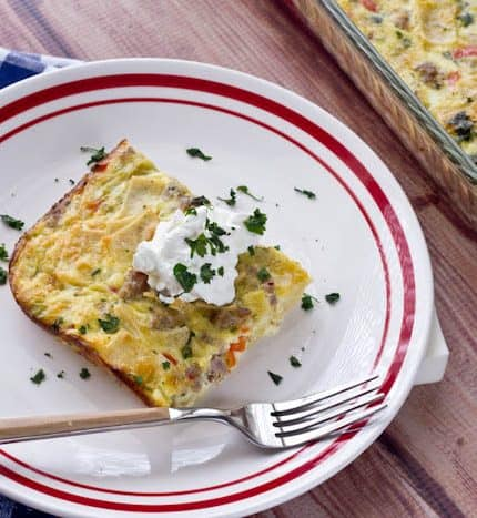 Tortilla Breakfast Casserole