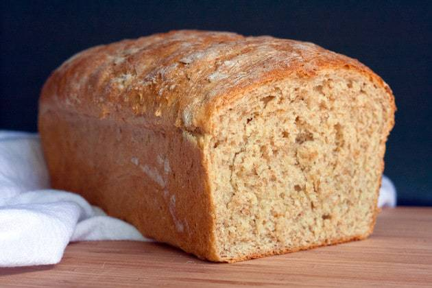 Honey Oatmeal Bread is full of whole grains and a touch of sweetness.
