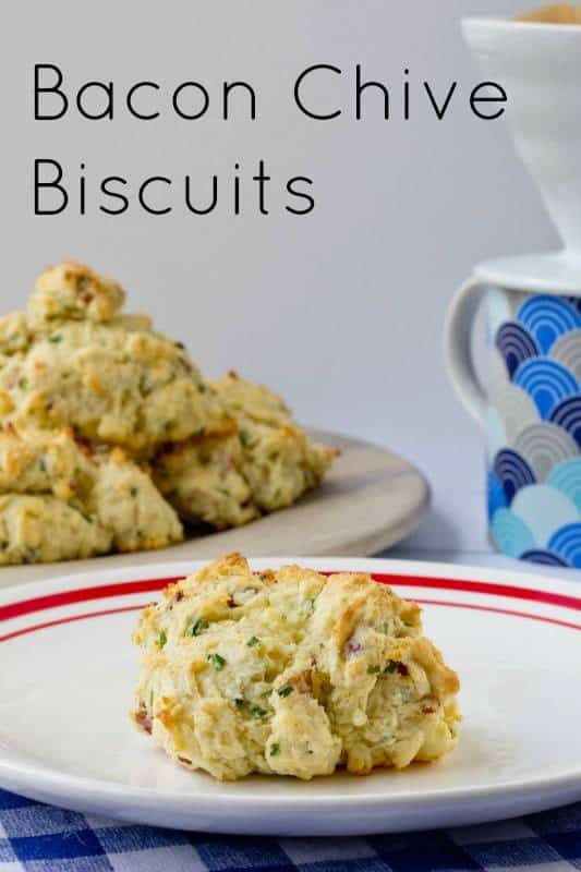 Biscuits - Bacon chive biscuits are a wonderful addition to any breakfast table.