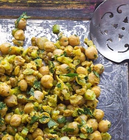 Lemony Mustard Chickpea Salad