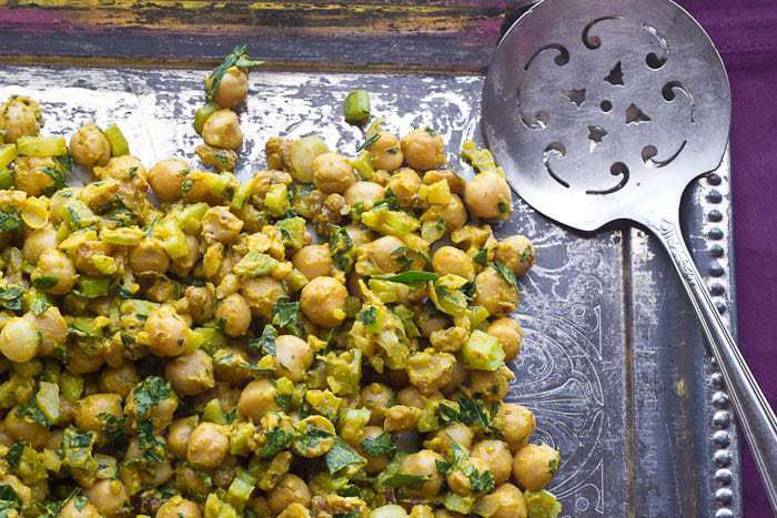 Mustard Chickpea Salad - Lemony Mustard Chickpea Salad is a delicious vegan lunch option.