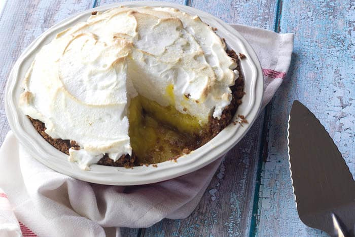 Meyer Lemon Meringue Pie comes together easily for a sweet-tart dessert.