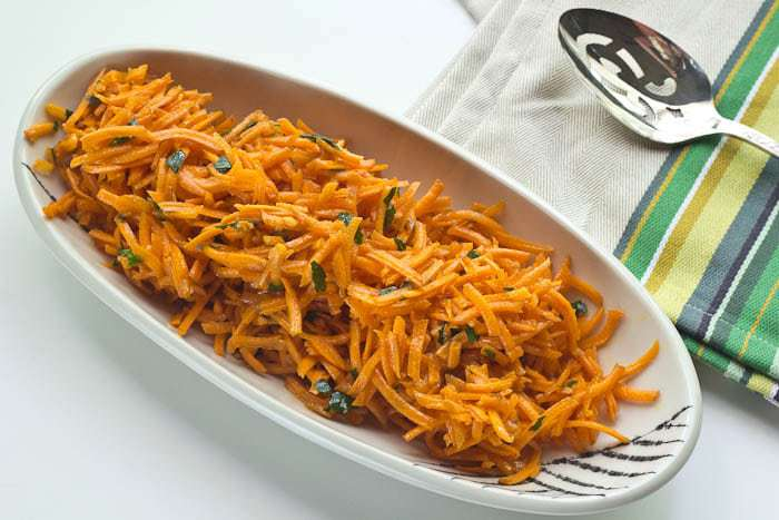 French carrot salad is ready in less than 10 minutes and makes for a wonderful side dish to any meal.