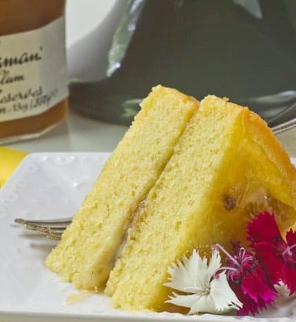 Golden Plum Tea Cake