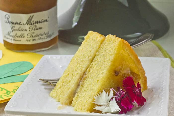 Golden Plum Tea Cake is an elegant dessert for Mother's Day.