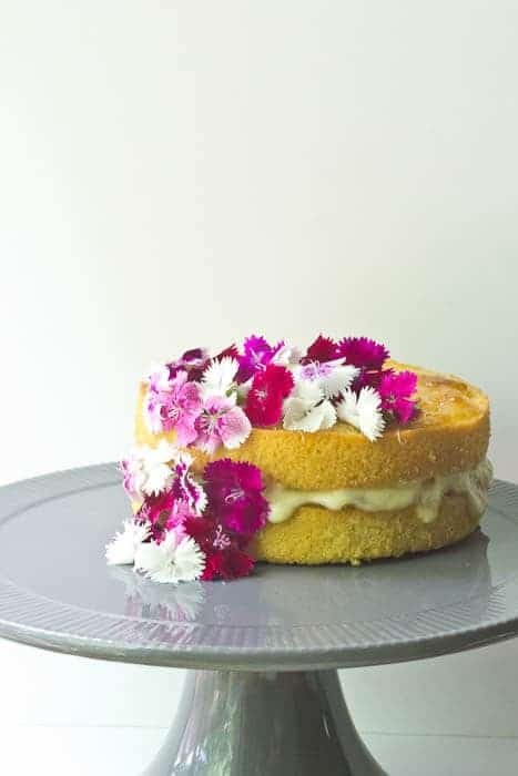 Golden Plum Tea Cake is delicate and sweet and perfect for Mother's Day.