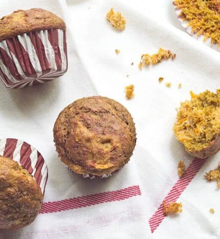 Sweet Potato-Beet Swirl Muffins