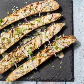 Grilled Eggplant with Tahini Sauce