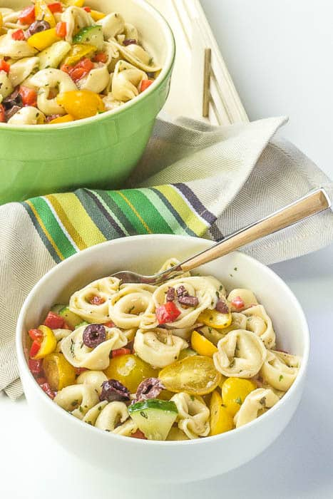 Tortellini pasta salad is a summer classic. Skip the boxed mixes and make it your own!