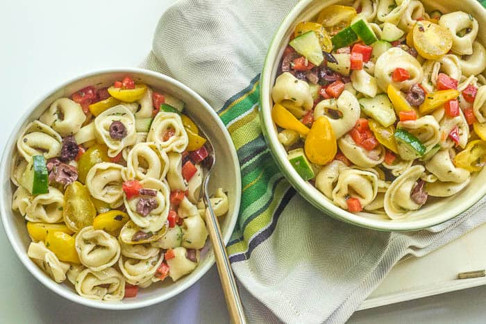 Tortellini Pasta Salad is a homemade version of the summer classic.