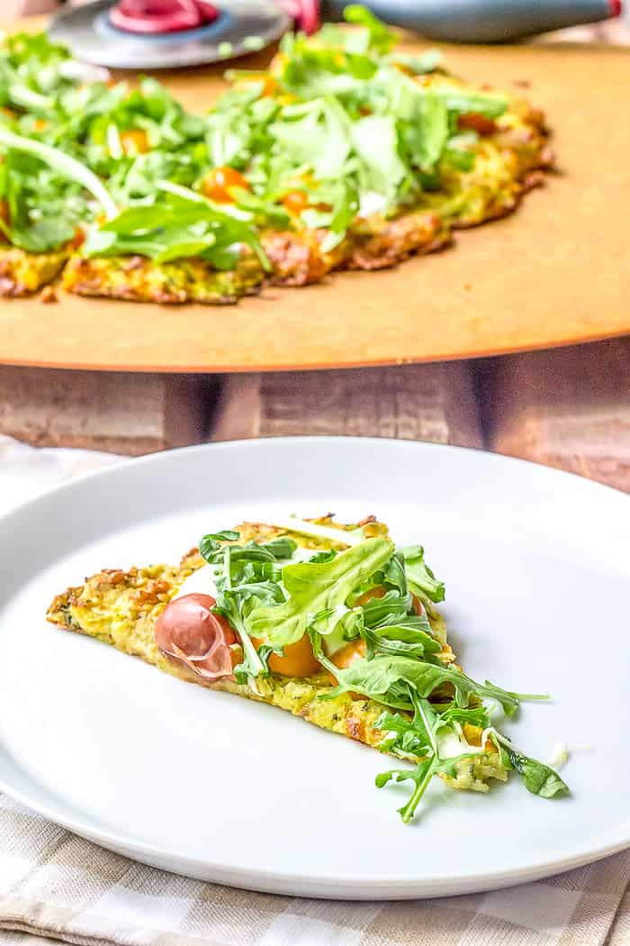 Looking for a low-carb pizza option? This Zucchini Crust Pizza is it!