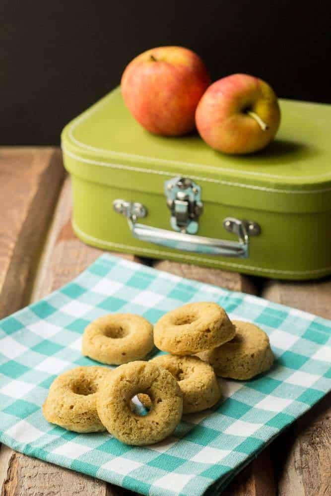 Maple Apple Bites - These tender maple apple bites, made with whole wheat flour, are great for an afternoon snack.
