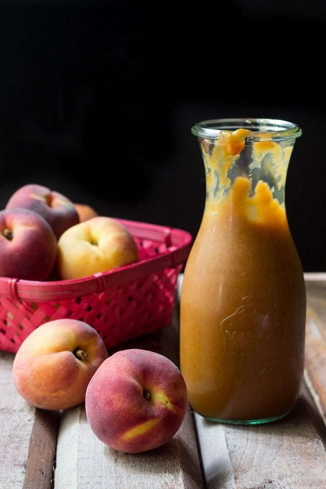Peach barbecue sauce is a great way to preserve the last of the season's fruit for a flavorful sauce.