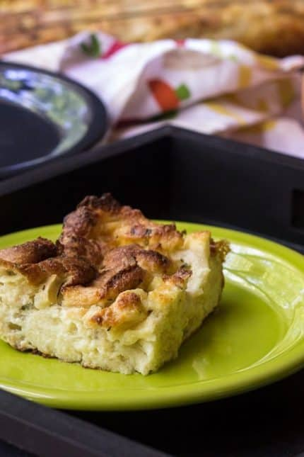 Savory Apple Cheddar Bread Pudding