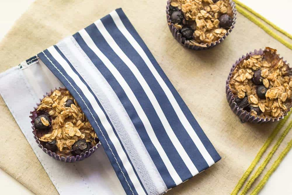 Baked Blueberry Oatmeal Cups - Get breakfast ready for the whole week with these baked blueberry oatmeal cups.