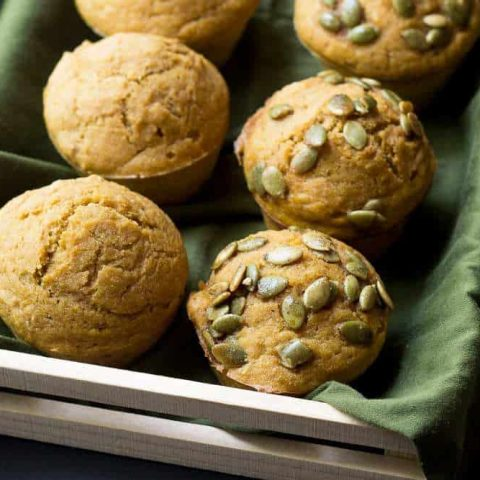 Pumpkin Muffins with Pepitas