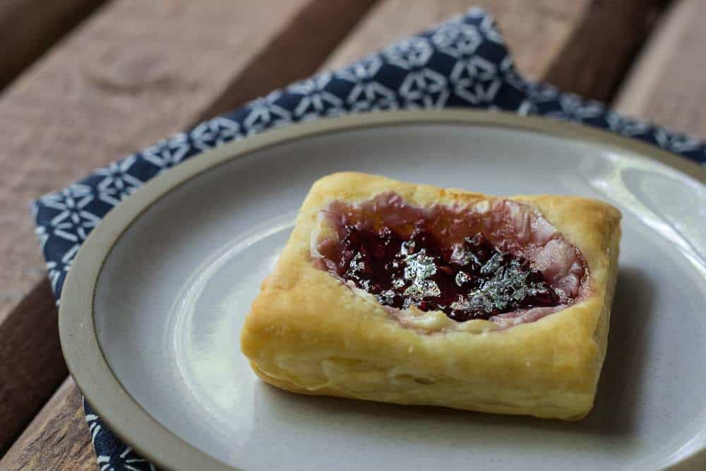 Starbucks Red Berry Danish - Starbucks Red Berry Danishes are delicious pastry topped with cream cheese and red berry jam.