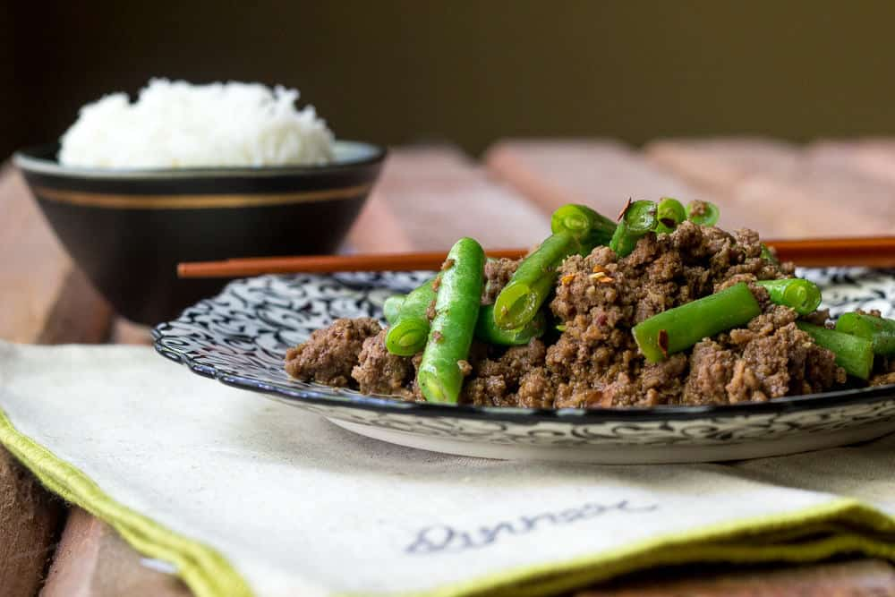 Beef and Green Bean Stir Fry is ready in minutes, and everyone will love it!