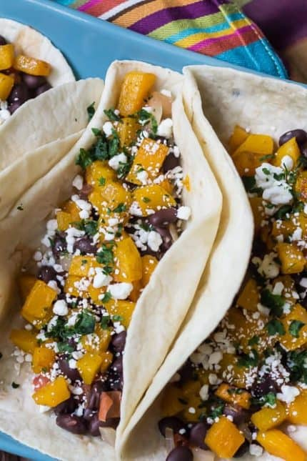 Butternut Squash Tacos with Black Beans