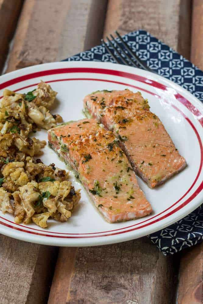 Easy Ginger Salmon - Ready in five minutes, this Easy Ginger Salmon lets you keep dinnertime worries at bay for another day.