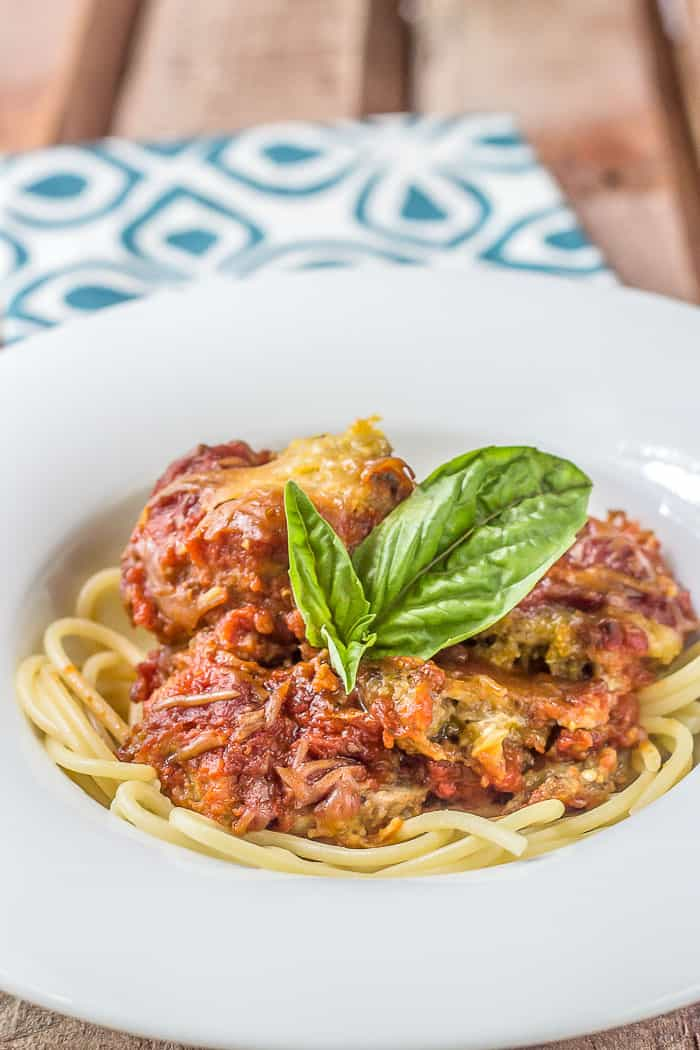 Slow Cooker eggplant parmesan is a wonderful way to enjoy a meatless main dish.