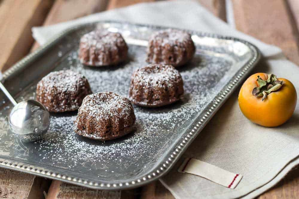Persimmon Chocolate Cake is a sweet treat made with whole wheat.