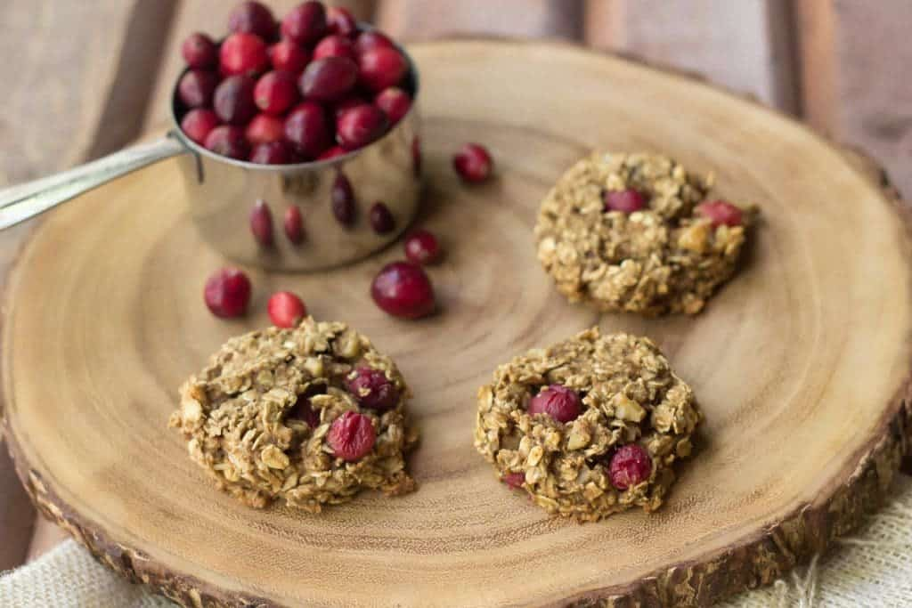 Cranberry breakfast cookies are studded with tart fruit for a wake-you-up portable breakfast!