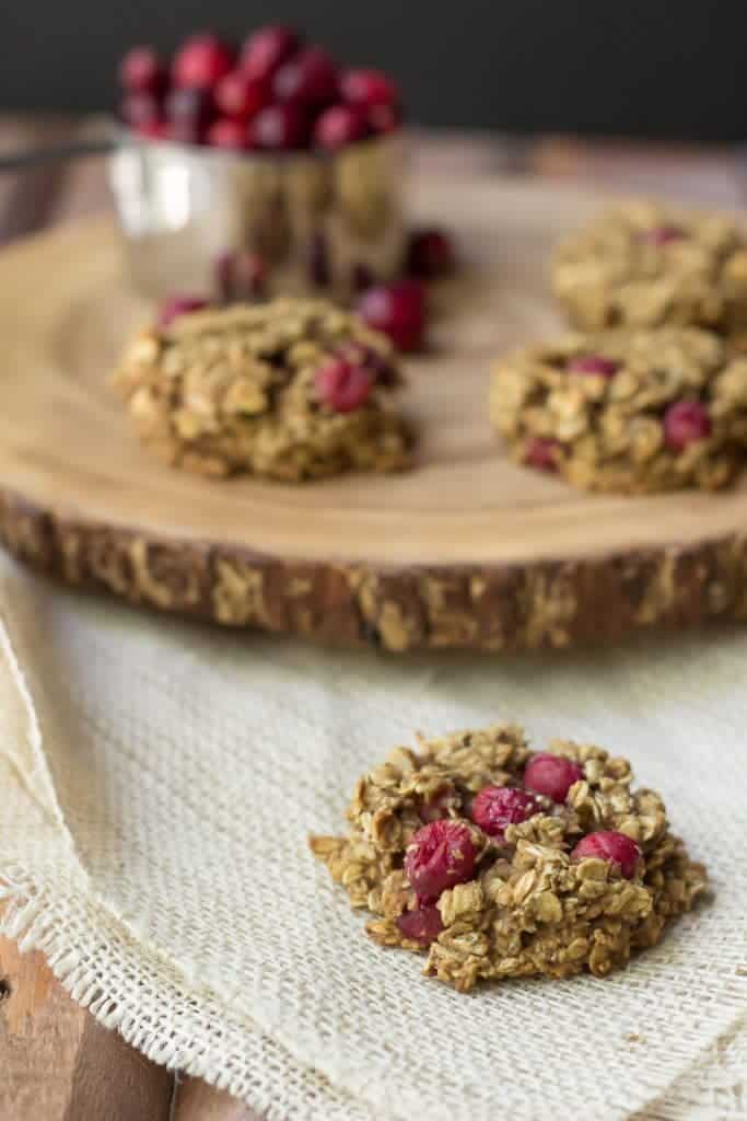Cranberry breakfast cookies are filled with tart, juicy fruit for a welcoming morning!