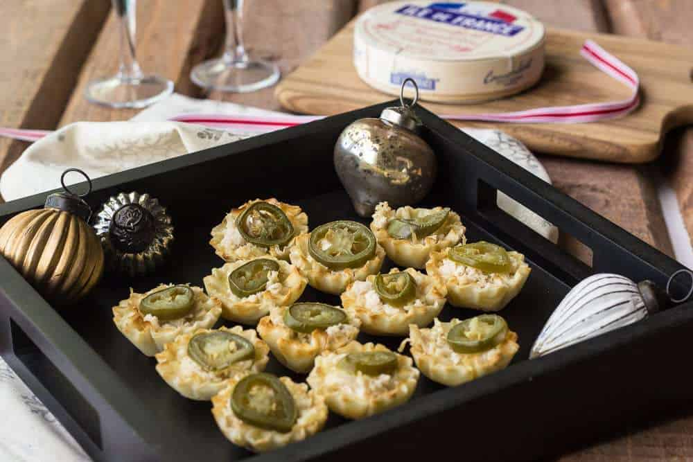 Camembert Chicken Bites are a party appetizer that only requires four ingredients.