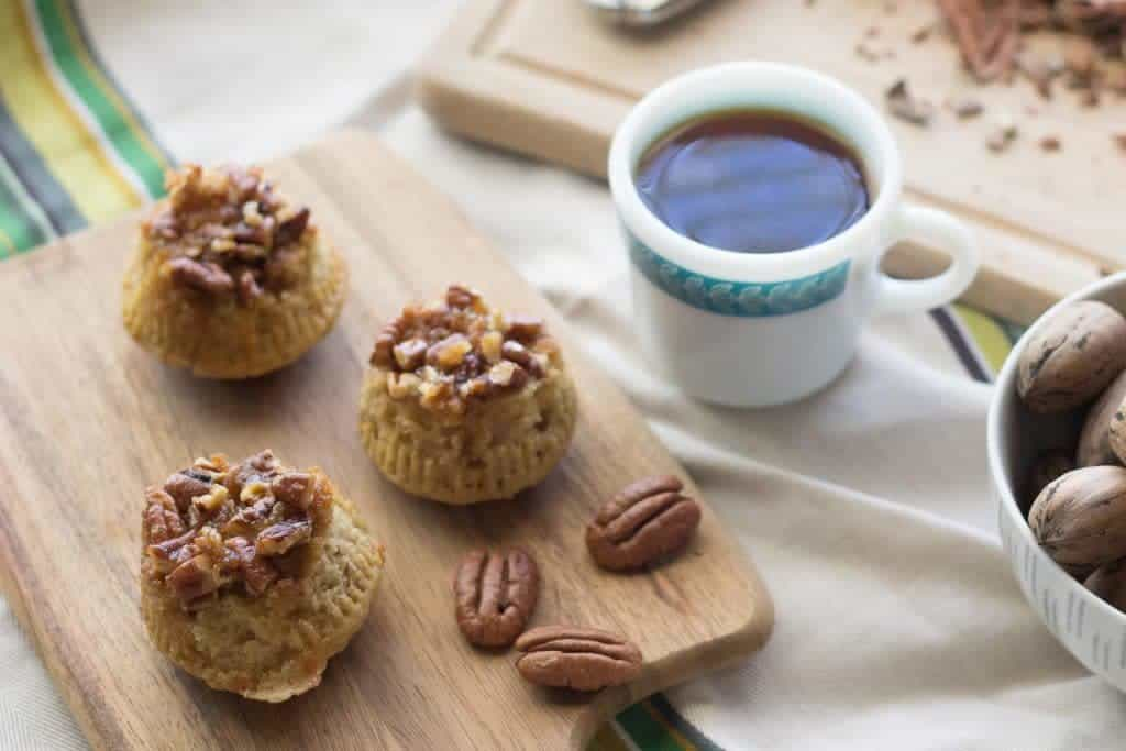 Sticky Bun Muffins are nutty with a caramel flavor.