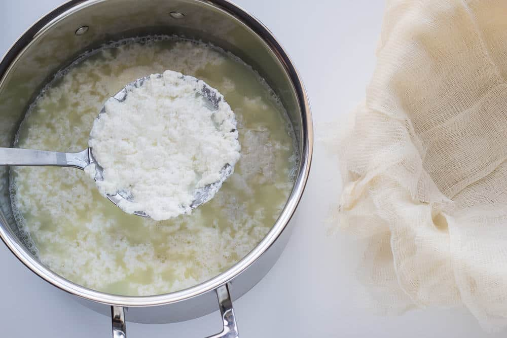 DIY Ricotta is simple to make and lovely to eat.
