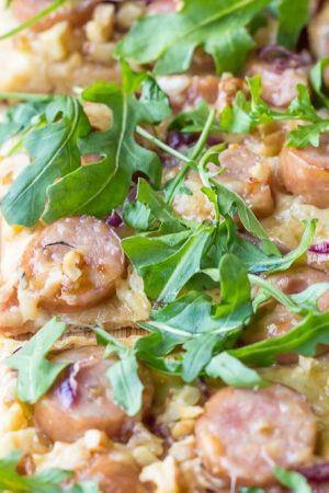 Maple-Walnut Chicken Sausage Pizza