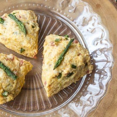 Ham Asparagus Scones