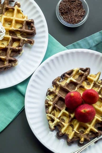 Marble Waffles and Sibling Rivalry