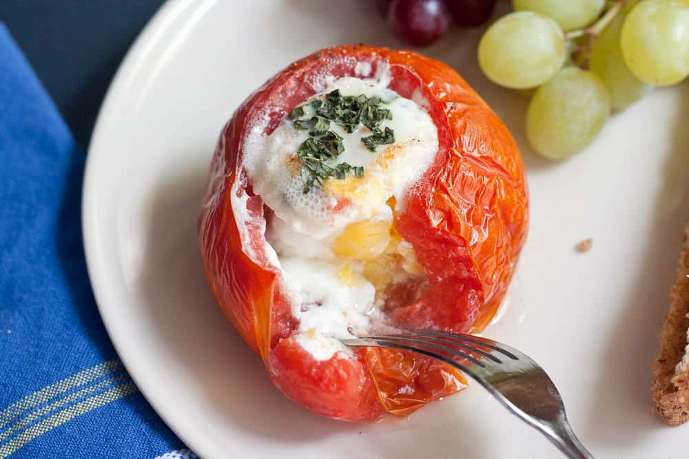 Baked Eggs in Tomatoes Picture